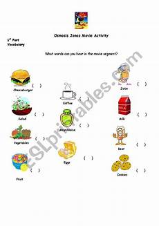 english worksheets osmosis jones activity
