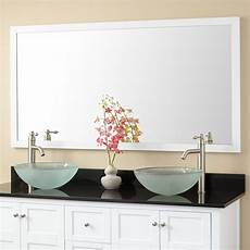 White Mirror Bathroom