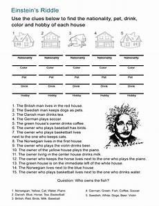 esl riddles worksheets 10892 einstein s riddle detective style logic activity all esl