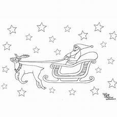 Ausmalbild Weihnachtsmann Mit Schlitten Rentierschlitten Ausmalbild Weihnachtsmann Mit Schlitten