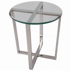 beistelltisch rund glas beistelltisch rund glas metall tisch glas verchromt