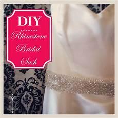 diy tutorial custom rhinestone bridal sash diy wedding