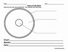 layers of the earth worksheet layers of the earth worksheet teaching