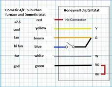 thermostatanalogwireheat cool coleman thermostat diagram circuit