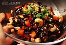 Bento Lunch Rezept Schwarzer Reissalat Mit