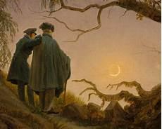 Romantik Caspar David Friedrich - caspar david friedrich two contemplating the moon