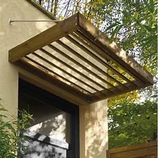 marquise porte d entrée marquise en bois pour porte d entr 233 e 0 96 m 178 lumilam