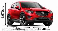 Abmessungen Mazda Cx 5 - dimensions of mazda cars showing length width and height