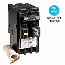Square D Homeline 20 2 Pole Gfci Circuit Breaker