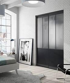porte de placard style atelier lot de 2 portes de placard coulissantes atelier 180 x 250