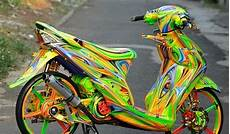 Airbrush Mio Sporty by Modifikasi Yamaha Mio Sporty 2014 Dengan Airbrush