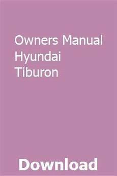 owners manual hyundai tiburon repair manuals yamaha marine hyundai tiburon