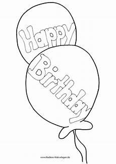 Ausmalbilder Geburtstag Herz Happy Birthday Luftballons Nadines Ausmalbilder