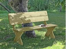 Gartenbank Toskana Holz Massiv 150x64x84cm Bei