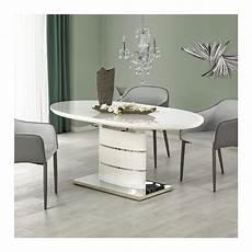 Table A Manger Ovale 140 180cm Blanche Avec Rallonge Ipson