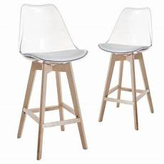 deco in 5 lot de 2 tabourets de bar scandinave