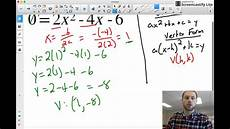 converting from standard form to vertex form without completing the square youtube