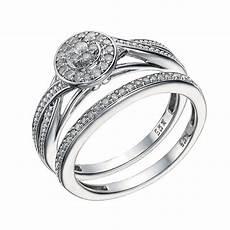 9ct white gold 1 5 carat diamond cluster bridal ring h samuel the jeweller