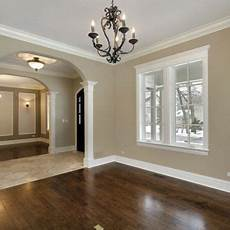 dark wood floors and white baseboards window trim