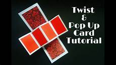 pop and twist card template twist pop up card tutorial twist pop up card for