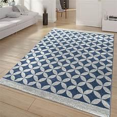 teppich blau grau ausgefallener kurzflor wohnzimmer teppich blau grau