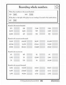 4th grade math worksheets rounding to the nearest 10 100 and 1 000 4th grade math