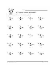 lowest term fraction worksheet for grade 6 4269 simplify proper fractions worksheets