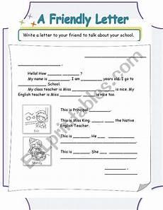 a friendly letter esl worksheet by helloellie