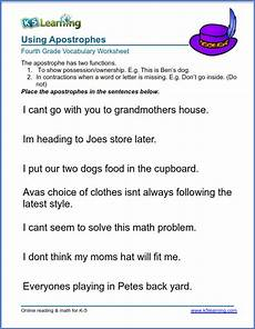 use apostrophes in sentences k5 learning