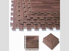 32 Sqft Dark Soft Wood Grain Eva Mats Foam Interlocking