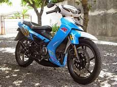 Modifikasi Satria 2 Tak by Modifikasi Motor Suzuki Satria 2 Tak Keren Terbaru Otomotiva