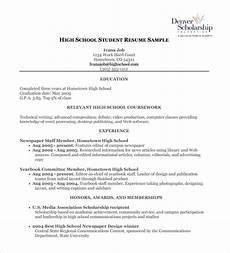 high school resume template 9 free word excel pdf