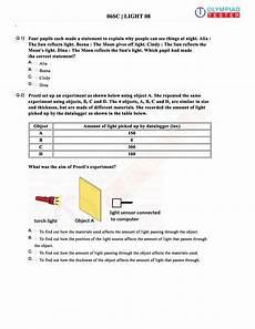 cbse class 6 science sle paper on light as a pdf worksheet sle paper light