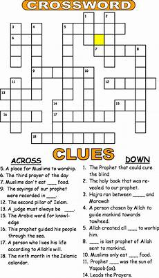 arabic puzzle worksheets 19868 crossword word puzzles for word puzzles islamic activities