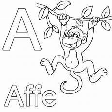 Abc Malvorlagen Xxi Ausmalbild Buchstaben Lernen A Wie Affe Kostenlos