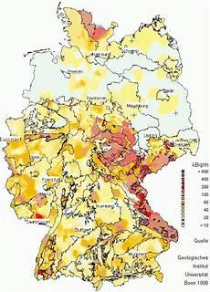 radonbelastung bayern karte radon gesundbauen