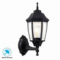 dusk to dawn black outdoor wall lantern sconce light patio porch deck lighting 725916814205 ebay