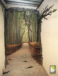 revetement mural trompe l oeil trompe l oeil path in the forest by philippe baro