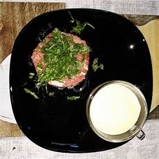 crema inglese salata ricetta tartare di fassona con crema inglese salata la ricetta di giallozafferano cibo