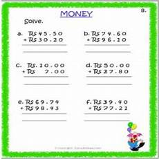 money rupees worksheets 2309 money rupees paise worksheets for std 3 estudynotes