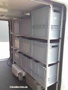garage zweckentfremdet regalsystem in der wohnmobil heckgarage bringt 220 bersicht