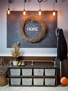 diy storage bench with rustic industrial style hgtv