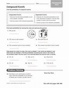compound probability worksheets 8th grade 6002 compound events finding the probability 6th grade worksheet lesson planet