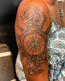 135 awesome compass tattoos and their meanings tattoo ideas