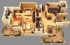 3 bhk house plan beautiful apartment house plans 3d