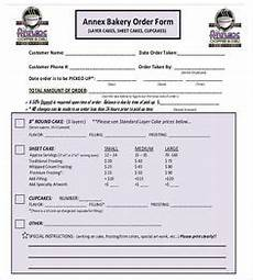 cake order receipt template cake order form template free search