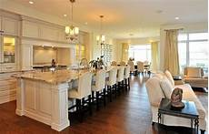 10 foot kitchen island a view along the length of the 12 foot by five foot kitchen island toward the dining area in