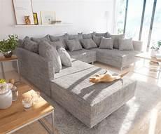 couch hellgrau couch clovis hellgrau strukturstoff mit hocker