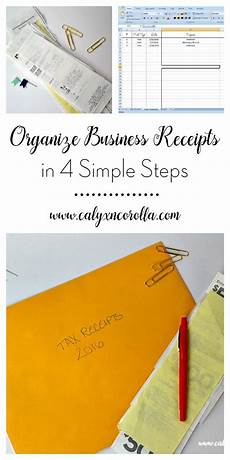 organize business receipts in 4 simple steps small business organization business