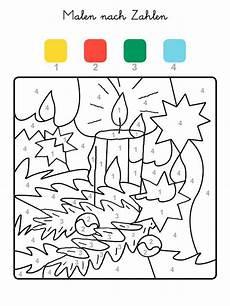 Ausmalbilder Weihnachten Malen Nach Zahlen Ausmalbild Malen Nach Zahlen Weihnachtskerze Ausmalen